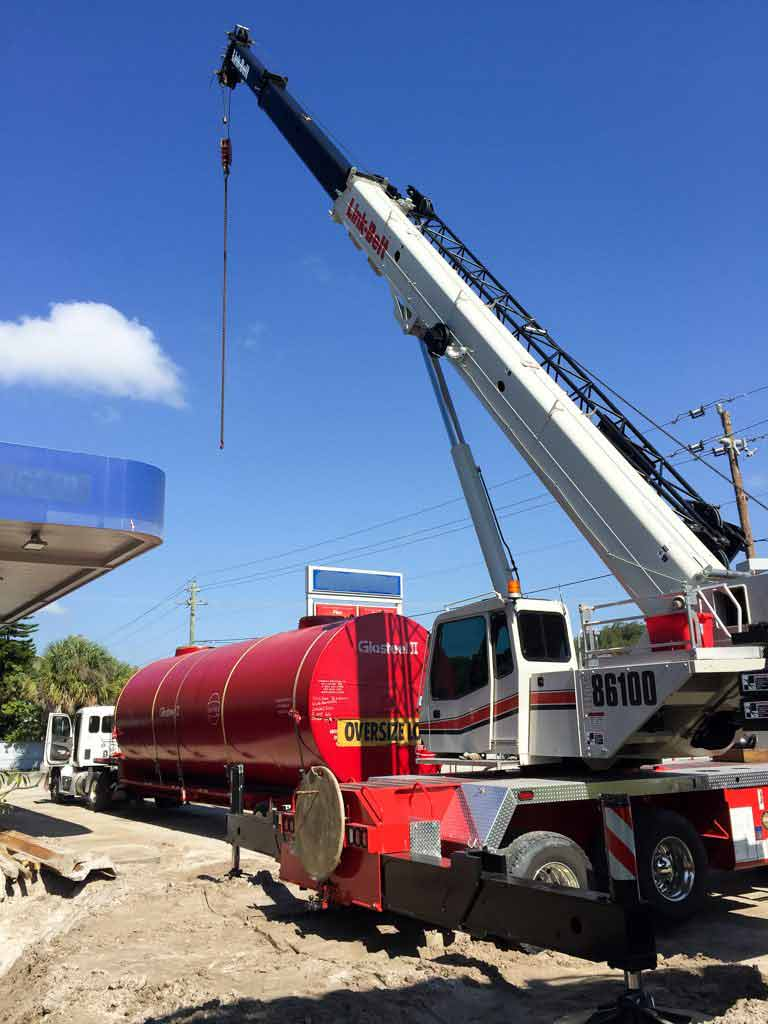crane lift rail tanker car